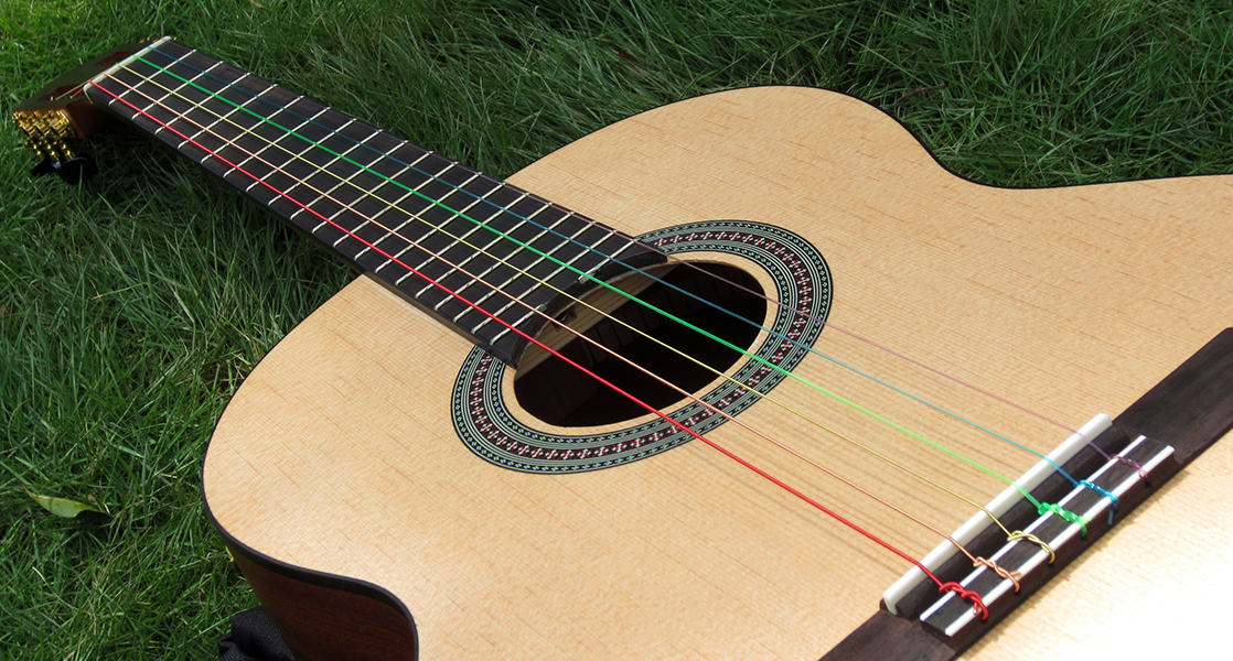 what are guitar strings made of